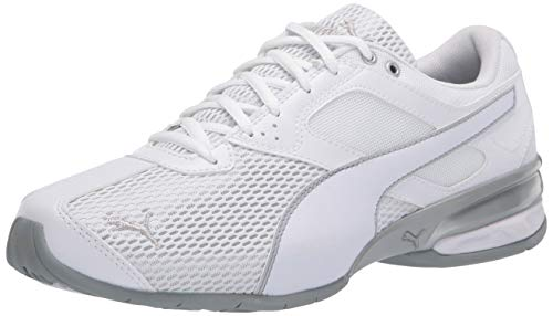 PUMA Women's Tazon 6 Sneaker, White-Quarry, 8.5 M US