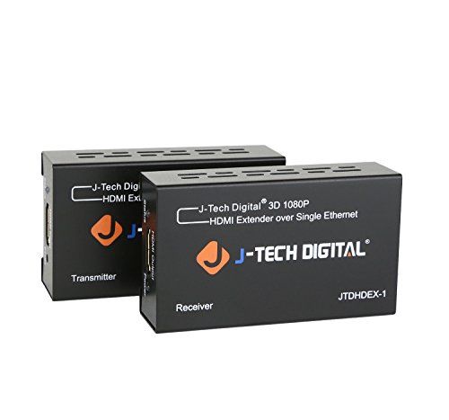 J-Tech Digital HDMI Extender By Single Cat 5E/6 Full Hd 1080P With Deep Color, EDID Copy, Dolby Digital/DTS