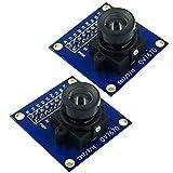 SUBALIGU 2pcs VGA OV7670 640x480 0.3Mega 300KP VGA CMOS Camera Module I2C Compatible with Arduino ARM FPGA