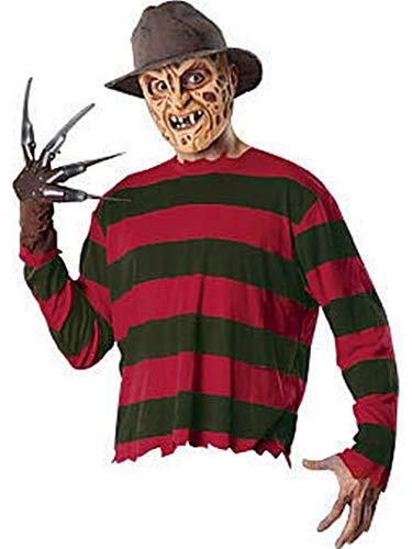 Rubie's Original Lizenz Freddy Krüger Krueger Kostüm Nightmare on Elm Street Frederick Charles Krueger Serienmöder Film Horror Grusel Halloween Gr. STD