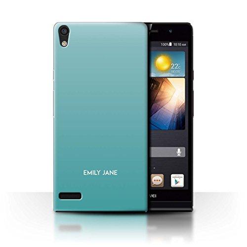 Stuff4 Personalisiert Benutzerdefinierte Ombre Farben Hülle für Huawei Ascend P6 / Knickente Schattierungen Design/Initiale/Name/Text Schutzhülle/Case/Etui
