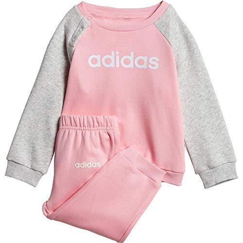 adidas Mädchen Sportanzug I Lin Jogg FL Sportanzug, Lt Pink/Lgreyh/White, 98, DV1286