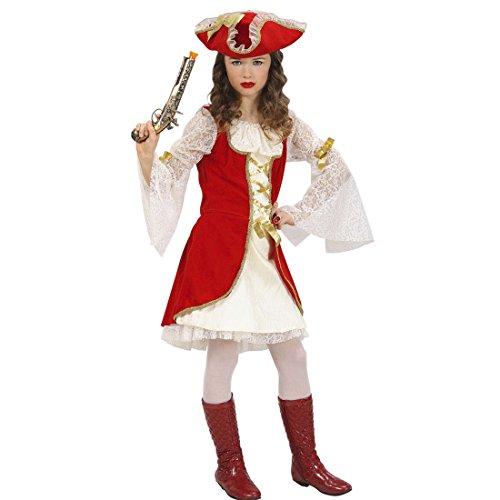 Déguisement pirate costume de corsaire pour enfant 140 cm 9-11 ans Tenue de femme flibustière robe de pirate Moyen-âge corsaire habit de mousquetaire renaissance tenue historique flibustier déguisement de carnaval