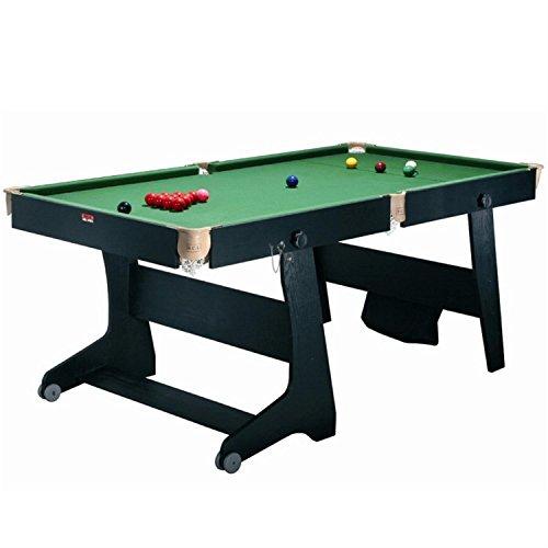 Riley FS-6 TT-1 3 in1 Poolbillardtisch Tischtennisaufsatz mit Dartboard (klappbar, 96 x 79 x 183 cm, inkl. Zubehör)