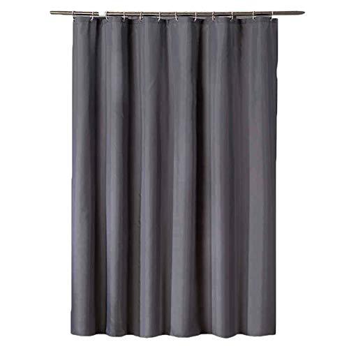 Shaoyao Cortina de baño – Cortinas Ducha Bañera Impermeable y Resistente al Moho Gris 200 * 240