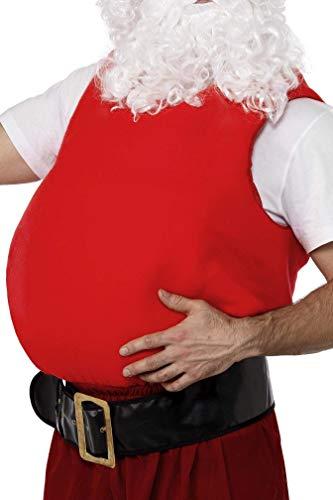 Smiffy'S 21468 Barriga Postiza De Papá Noel, Rojo, Tamaño Único