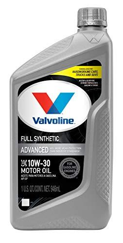 Valvoline Advanced Full Synthetic SAE 10W-30 Motor Oil 1 QT