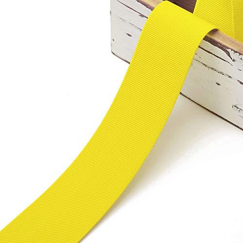 4-Yards 2-inch (50mm) Twill Elastic Band Trim, Waistband Elastic, Elastic Trim, Elastic Ribbon, TR-11831 (Yellow)