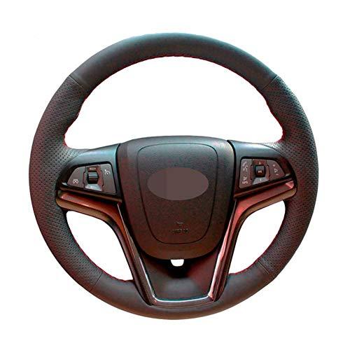 USNASLM Funda de cuero artificial para volante de coche, cosida a mano, para Chevrolet Malibu 2011-2014 voltios 2011-2015