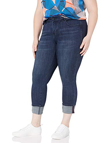 Jag Jeans Women's Plus Size Maddie Skinny Cuffed Jean, Night Breeze, 18W