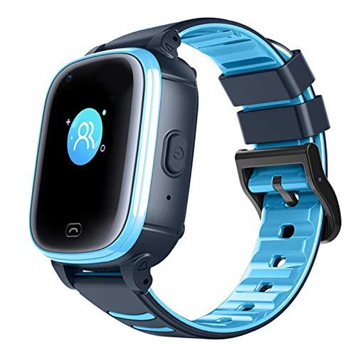 Claelech Kinder Smartwatch, IPX7 Wasserdicht 4G Kinder Phone Uhr Touchscreen GPS Tracker Echtzeit Geo-Fence mit SOS Videoanruf Voice Chat Anruf Kamera schrittzähler für Jungen und Mädchen (Blau, CL80)