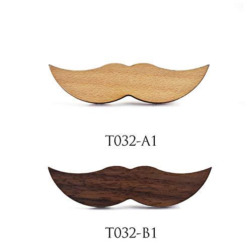 Pajarita para hombre Barba de madera Clip de corbata Patrón ...