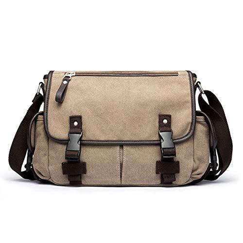 Fay 14 Zoll-Laptop-Tasche Mens Vintage-beiläufige Art und Weise Segeltuch-Kurier-Beutel-Aktenkoffer-Umhängetasche Einzel-Umhängetasche,A