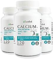 Leafed Calcium Magnesium Zinc Vitamin D & B12-120 Vegetarian Tablets