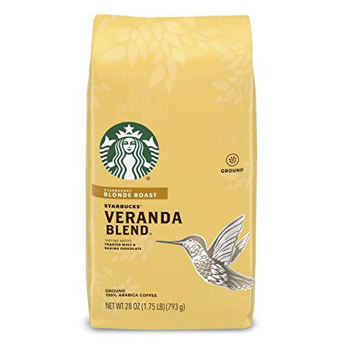 Starbucks Blonde Roast Ground Coffee — Veranda Blend — 100% Arabica — 1 bag (28 oz.)
