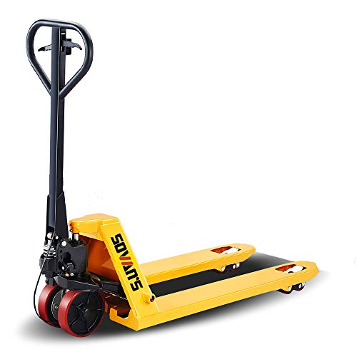 SOVAN'S【Brake System】Manual Pallet Jack Hand Truck with Brake System 5500lbs Capacity 48'Lx27'W Fork Size
