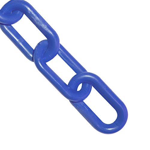Mr. Chain Plastic Barrier Chain, Blue, 1-Inch Link Diameter, 25-Foot Length (10002-25)