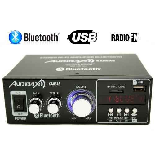 Audibax KANSAS Amplificador HiFi con Bluetooth / MP3 / FM 2 x 40W...
