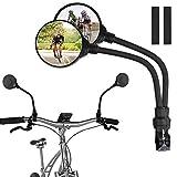 ZLDM Fahrrad Rückspiegel, 2 Stück Fahrradspiegel 360° Drehspiegel Convex Safe, Verstellbar Drehbar Stoßfestes, Schlagfest, Glaslinse, Bicycle Mirror Für Fahrzeugqualität