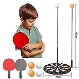 LFF TENT Herramientas Tabla de Entrenamiento de Tenis, Tenis de Mesa Trainer con elástico Suave del Eje, Dispositivo de Auto-formación, para los niños Adultos,B
