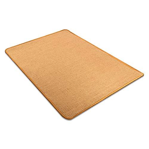 uyoyous Katzenkratzmatte 70 x 100 cm Kratzteppich Jute Mat Teppich Kratzmatte für Katze Robust Pflegeleicht und Schmutzresistent für Küche Flur Diele Veranstaltungen