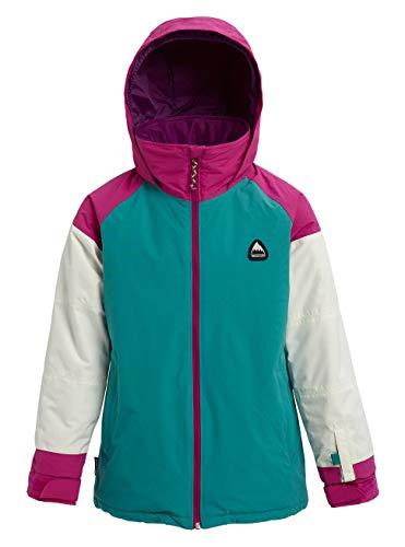 Burton Mädchen Snowboard Jacke Hart, Green-Blue Slate Multi, XS, 11570102401