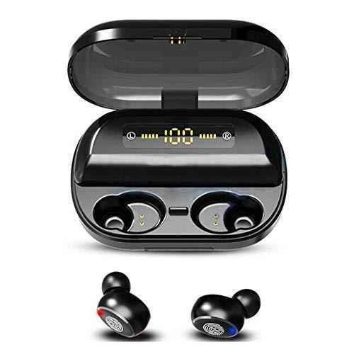Yangmanini Auricular Bluetooth Estéreo 5.0 Auricular Inalámbrico De Manos Libres Auriculares Auricular Deportivo Impermeable del LED
