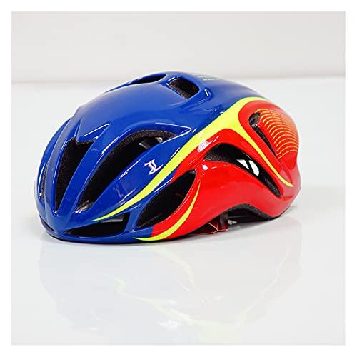 JSJJAEY Casco Casco de Ciclismo Casco de vetteza Casco de Bicicleta Accesorios (Color : Color 9, Size : L (58 62cm))
