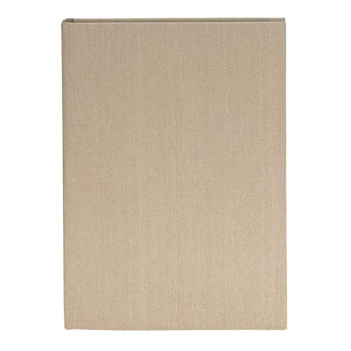 goldbuch Skizzenbuch, Linum, A5, 116 chamoisfarbene Blankoseiten, 15 x 21,5 cm, Fadengeheftet, Mit Lesezeichen, Leinen, Creme meliert, 61004