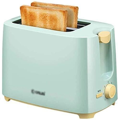 LONGJUAN-C Acero Inoxidable 2 Slice Toaster, Compacto Pan tostadoras, Ranuras Extra Anchas, Bagel/cancelar la función, la Bandeja for Migas Desmontable, for el Desayuno Pan lxhff Tostadora