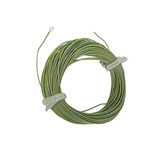 Aventik Angelschnur zum Fliegenfischen von Forellen, Gewicht nach vorne, schwimmende Fliegenschnur mit freiliegender Schlaufe Easy Line ID (1 Stück, grün, 8F)
