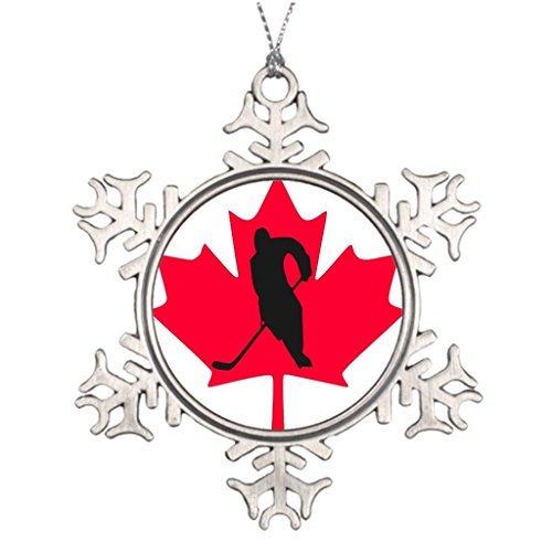 VinMea Snowflake Metal Ornament Tree Branch Decoration Canada Christmas Snowflake Ornaments