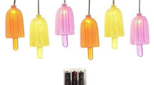 LED Lichterkette EIS AM STIEL Eisförmchen Partybeleuchtung 2m