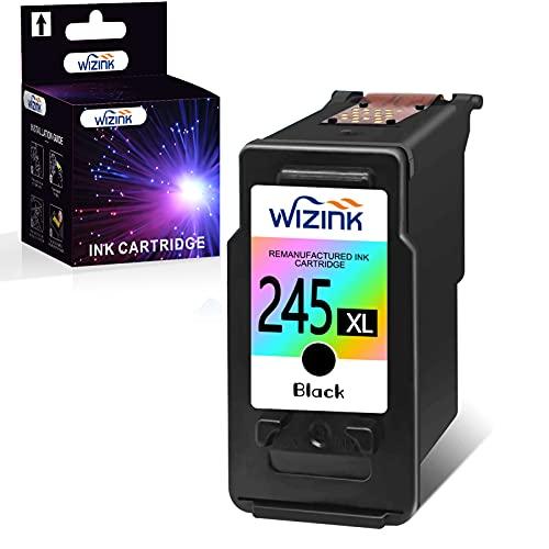WIZINK Remanufactured Ink Cartridge Replacement for Canon 245XL PG-245XL PG245XL PG-243 for PIXMA MX492 TR4520 MX490 MG3022 MG2522 MG2920 MG2420 MG2520 MG2922 MG3029 iP2820 Printer (1 Black)