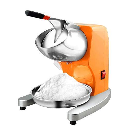 LXZZJ Máquina de afeitadora de hielo eléctrica para uso profesional en el hogar Máquina para máquina de afeitar para hielo Hielo raspado Máquina para hacer conos de...