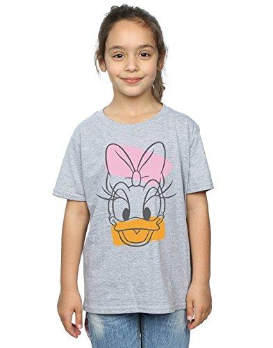 Disney Mädchen Daisy Duck Head T-Shirt 12-13 years Sport Grey