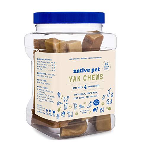 Native Pet Yak Chews for Dogs (Bulk Size - 10 Medium Chews)....