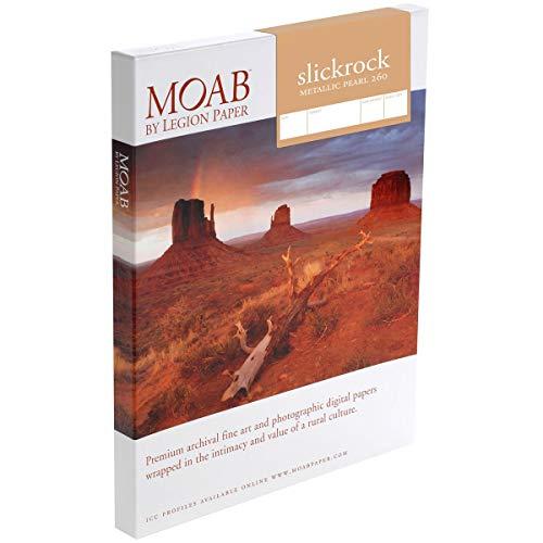 Moab Slickrock Metallic Pearl Fine Art Inkjet Paper, 13x19'/A3+, Resin Coated, 25...
