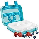 ONE SANTI Bento Box - Brotdose für Kindergarten Kinder & Schule mit 4 Fächern - Lunchbox...