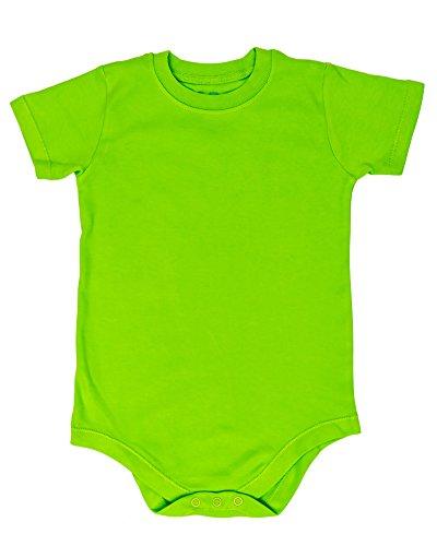 2T 3T 4T 5T 6T 7 8 10 12 Toddler & Kids Boys & Girls Bodysuit Short Sleeve Round Crew Neck - Many Colors (2T, Lime Green)