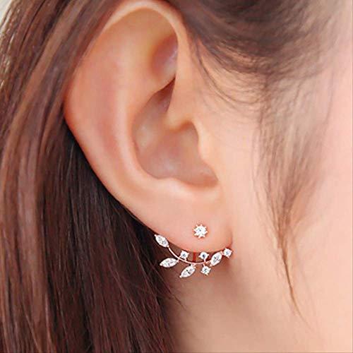 Sieraden voor vrouwenKristallen oorbellen Boucle D'oreille Femme Bloem oorbellen voor vrouwen Sieradene016Zilver Verguld