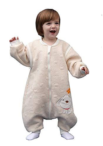 Emmala Baby Slaapzak Met Benen Casual Chic Extra Zacht Alle Seizoen Kinderen Slapende pyjama Pasgeboren Pajama Jumpsuit Romper Voor Jongens En Meisjes Blauw Label90 Lichaam Grootte 85 95Cm