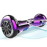 MEGA MOTION Hoverboards, Hoverboard Enfant, Overboard Auto-Equilibrage avec 6.5 Pouce et Haut-Parleurs Bluetooth pour Enfants 8-12 Ans Flash Coloré HoverKart