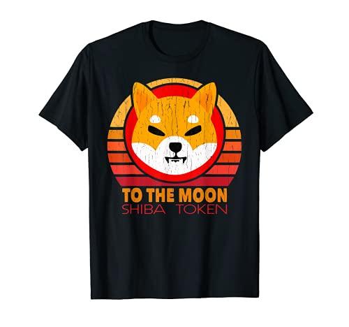 SHIBA INU TOKEN to the moon Cryptocurrency Shiba Coin T-Shirt
