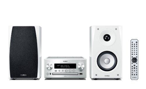 Yamaha MCR-N560D PianoCraft Kompaktanlage (Netzwerk, AirPlay, App Steuerung, CD, DAB+ Radio, USB) silber/klavierlack weiß