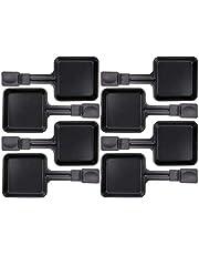8x Raclette pannetjes 23178 10x10cm, geëmailleerd, universeel voor raclettes (afmetingen zie tekst)