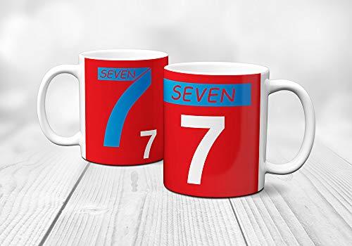 Fashion Graphic Tazza Mug Seven Fighters Ispirata A Mila e Shiro Alimentare Lavabile Lavastoviglie con Scatola