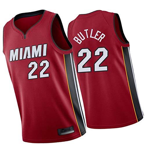 WXZB Jersey de baloncesto Heat #22 Butler, camisetas de baloncesto para hombre, nueva sudadera con bordado retro, regalos para fans rojo-L