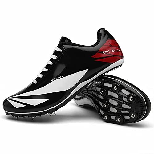 Zapatillas con Clavos para Correr en Pista y Campo - 8 Clavos Zapatillas Deportivas para Carreras en Pista y Campo Zapatillas de Carrera Ligeras y Transpirables para Correr para jóvenes