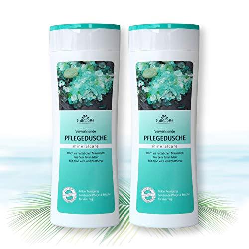 PLANTACOS - Mineralcare- Totes Meer Mineralien Pflegedusche, mildes Duschgel, 300 ml, (2er Vorteilspack)